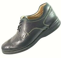 JOHNSTON & MURPHY Mens Shoes 9.5 M Lace Up Oxford Dark Brown Center Seam Leather