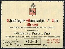 Etiquette de Vin - Bourgogne - Chassagne-Montrachet - 1° Cru-Morgeot - Réf.n°184
