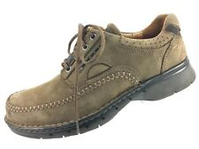 SH10 Clarks Unstructured Un.Cover 7M Brown Suede Casual Oxford Sneaker Shoe