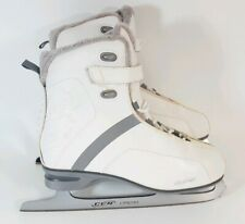 Vintage Womens Ice Skates Size 9 Ccm Cs300 Chrome Edition Fleece Insole
