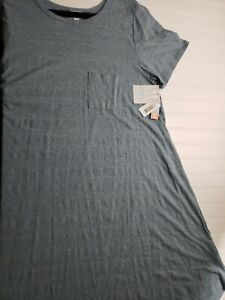 Lularoe 2XL Carly Gray T-Shirt Dress