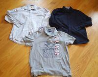 Mens Tommy Hilfiger short Long Sleeve Button Shirt Lot Large XL large 3 Shirts