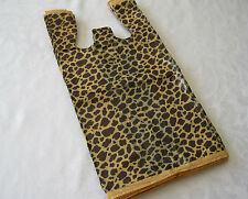 "LEOPARD PRINT T SHIRT BAG 50PCS 11.5"" X 6"" X 21"""