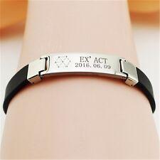 KPOP EXO EX'ACT LUCKY ONE Bracelet Titanium Steel Wristband SEHUN D.O. SUHO
