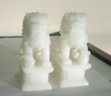 CHINESE FOO DOGS JADE CARVING TWO