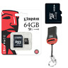 Speicherkarte Kingston Micro SD Karte 64GB Für NINETEC Platinum 10 G2