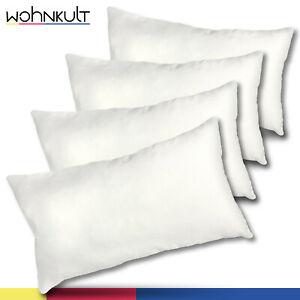 Wohnkult 4x Pillow Filler Antiallergisches Pillow 30x50 CM Cushion Pillow Insert
