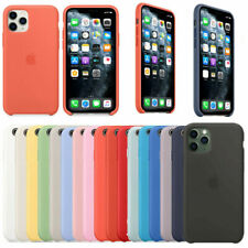 Funda para Apple iPhone XR XS X 8 7 6S 6 Plus Original carcasas Silicona Genuina