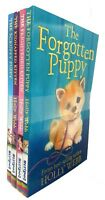 Holly Webb Collection Forgotten puppy Frightened kidnapped kitten 4 Books Set