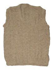 maglione gilet uomo fatto a mano beige melange taglia m / l medium large