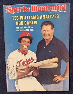 7.18.77 ROD CAREW Sports Illustrated TWINS - TED WILLIAMS - Shirley Muldowney