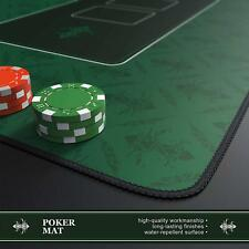 More details for texas poker hold'em layout table top mat pad cover waterproof casino green felt