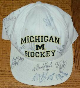 Michigan Hockey Team Autographed Cap