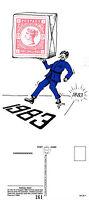1983 PARCEL POST CENTENARY LIMITED EDITION MINT POSTCARD BY VELDALE