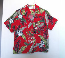 Alfred Dunner Size 8 Red Green Blue White Floral Rayon Shirt, short sleeves