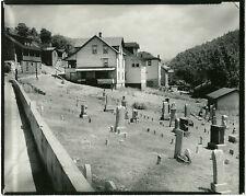 Walker EVANS: Houses and Graveyard, Rowlesburg, WV, June 1935 / Lunn Stamp