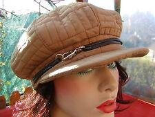 femmes Casquette à visière en BEIGE CHAPEAUX BONNETS POUR Fmmes OCCASIONS