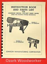 WELLSAW No.8 Metal Cutting Band Saw Operator /& Parts Manual 0758
