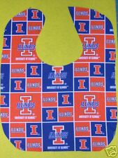 UNIVERSITY OF ILLINOIS ILLINI PERSONALIZED BABY BIBS LG Baby's Name Embroidered
