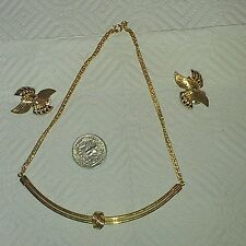 """Vintage Jewelry Necklace Choker Gold tone signed Celebrity N.Y. 16"""" Nice"""