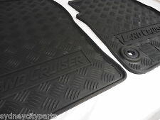 TOYOTA LANDCRUISER 70 SERIES FLOOR MATS FRONT RUBBER FROM AUG 2012> NEW GENUINE
