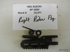 1983 Suzuki SP 250D SP250 Right Driver Foot Peg