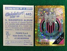 CALCIATORI 1995-96 95-1996 n 445 PALERMO SCUDETTO  Figurina Sticker Panini NEW b