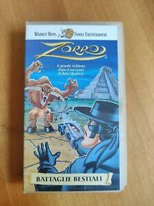 ZORRO BATTAGLIE BESTIALI - VHS WARNER BROS FAMILY ENTERTAINMENT