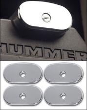 Hummer H2 & H2 SUT Smooth Chrome Billet Roof End Caps, Set.