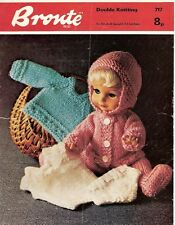 Dolls Clothes Knitting Pattern Copy 4 Ply coat pants sweater  30 cm doll