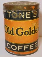 Old Vintage 1920s TONE BROTHERS TONES COFFEE COFFEE TIN 1 POUND DES MOINES IOWA
