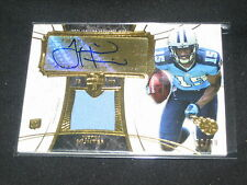 JUSTIN HUNTER HAND SIGNED AUTOGRAPHED EVENT WORN JERSEY FOOTBALL CARD 30/30 RARE