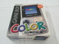 L933 Nintendo Gameboy Color console Clear Japan GBC w/box bx
