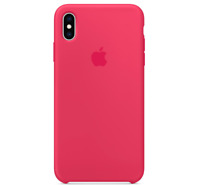 Echt Original Apple iPhone XS Silikon Hülle Silicone Case - Hibiskus