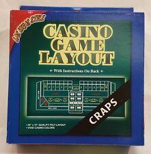 LAS VEGAS STYLE Craps Felt Casino Game Layout