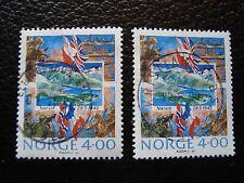 NORVEGE - timbre yvert et tellier n° 1000 x2 obl (A04) stamp norway (T)