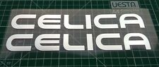 TOYOTA CELICA chrome body glass decal sticker / stickers 200mm x 2