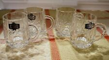 SET of 4 KRISTAL zajecar 24% LEAD CRYSTAL 4oz MUGS.Made in YUGOSLAVIA. Excellent