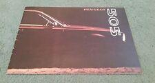 1979 1980 PEUGEOT 505 SALOON UK BROCHURE GR SR Ti STi GRD SRD
