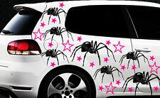 75x Spider Spinnen Autoaufkleber Sterne Star Spiderman Stern Tribal Tattoo xxxx