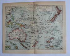 Ozeanien historische Landkarte aus dem Jahr 1905