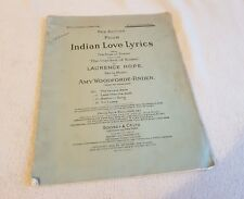 FOUR INDIAN LOVE LYRICS FROM THE GARDEN OF KAMA - VINTAGE SHEET MUSIC