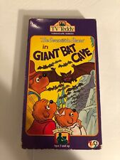 TV Teddy The Berenstain Bears in Giant Bat Cave VHS Vintage Children's Video