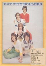 BAY CITY ROLLERS (1974 TOUR PROGRAMME & TICKET STUB)