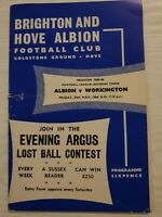 BRIGHTON and Hove Albion v Workington football programme 1965-66 division 3
