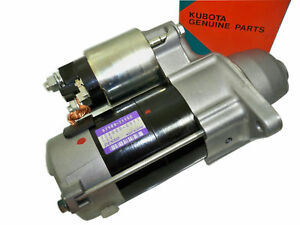 NEW GENUINE Kubota Starter D782 D722 D722EGX ZD18 ZD21 G2160 G2160-R48S GR2100