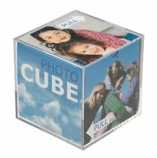 "Photograph Cube Clear Acrylic Photo Display Block Frame (Square 3.25""/ 8.5cm)"