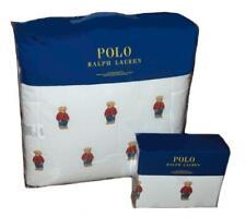 RALPH LAUREN Polo Teddy Bear Boy Red Sweatshirt 7P QUEEN COMFORTER & SHEET SET