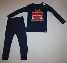 New Baby Gap 2 Piece Fire Truck Fire Department PJs Pajamas Size 2 Year 2T NWT