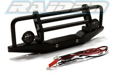 Metal front bumper with led set for SCX10 90021 90022 90027 90028 90035 90036